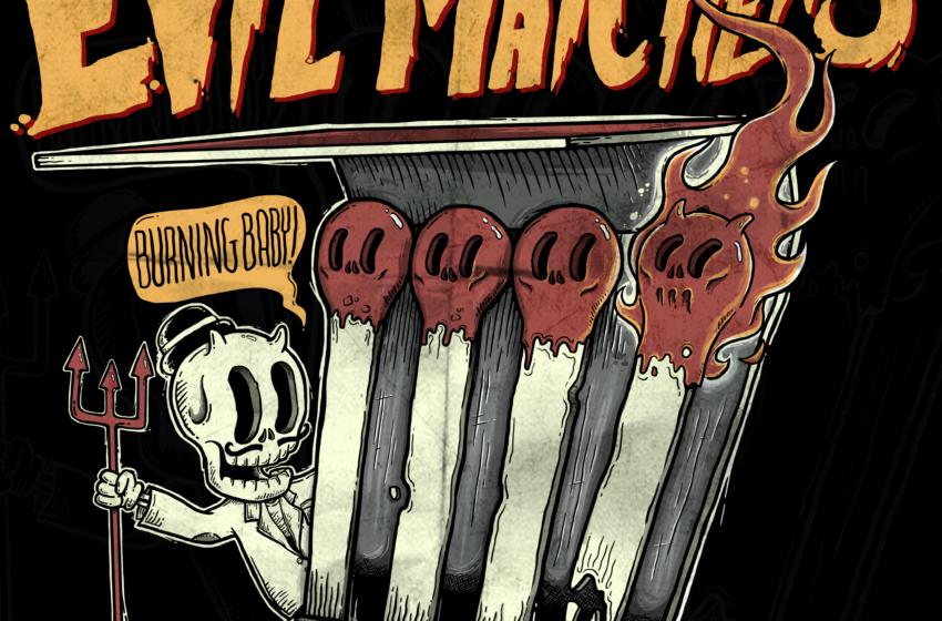 Com lampejos do proto-punk e púrpurina do Glam Rock: Evil Matchers solta o verbo em Burning Baby!