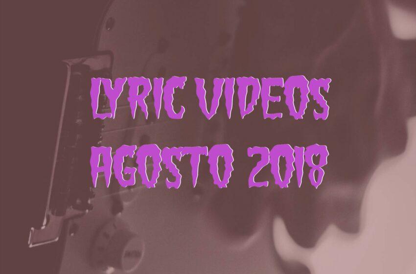 14 Lyric Videos lançados em Agosto (2018)
