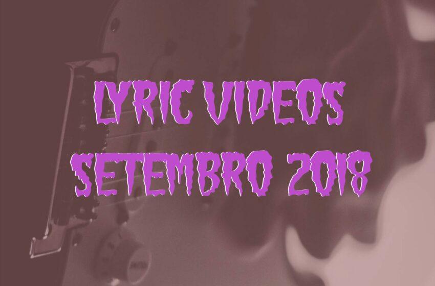 5 Lyric Videos lançados em Setembro (2018)