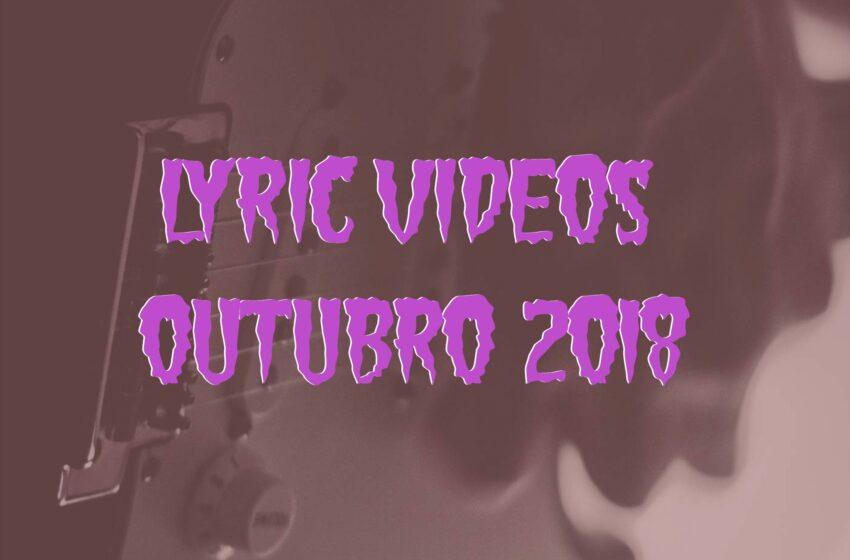 9 Lyric Videos lançados em Outubro (2018)