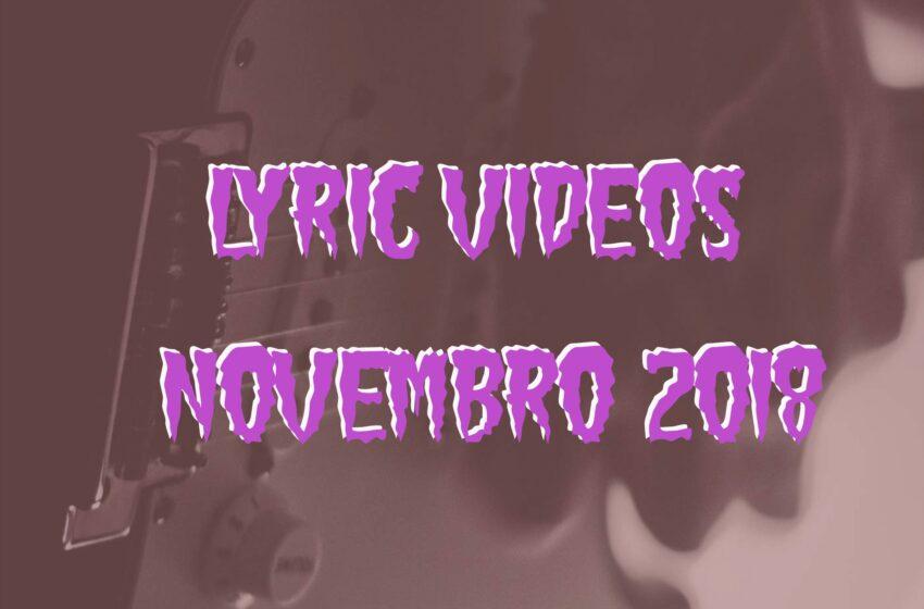 5 Lyric Videos lançados em Novembro (2018)