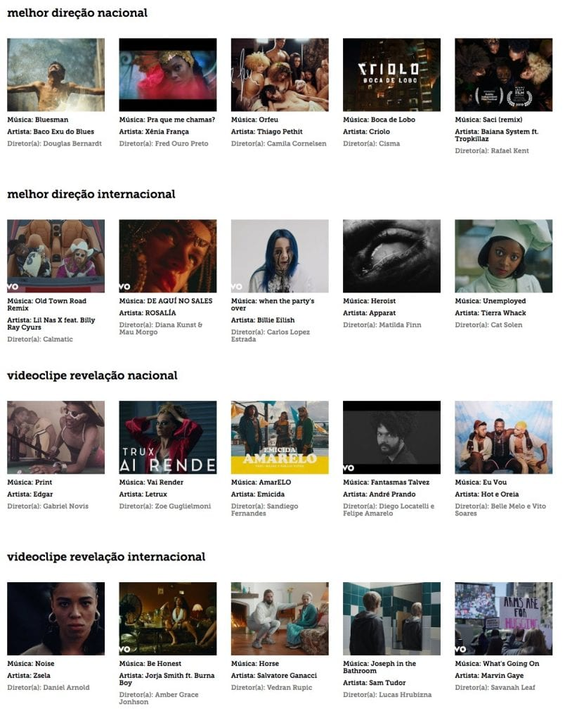 m-v-f- awards 2019 Direção