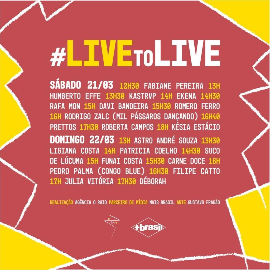 Festivais Coronavírus #LiveToLive