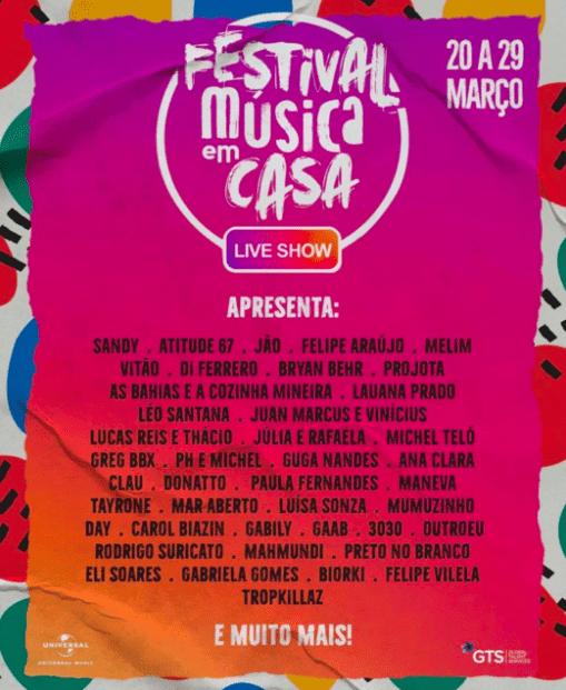 Festival Musca em Casa Coronavírus Festivais