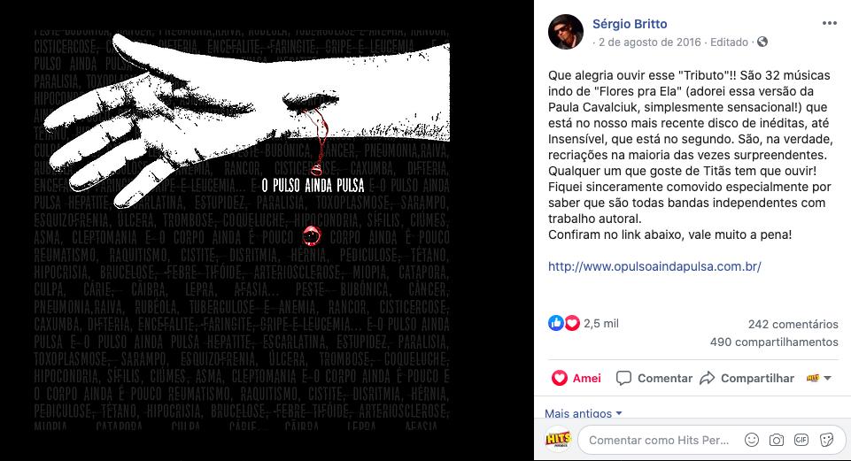 Érika Martins Tributo Titãs Sérgio Britto Cabeça Dinossauro