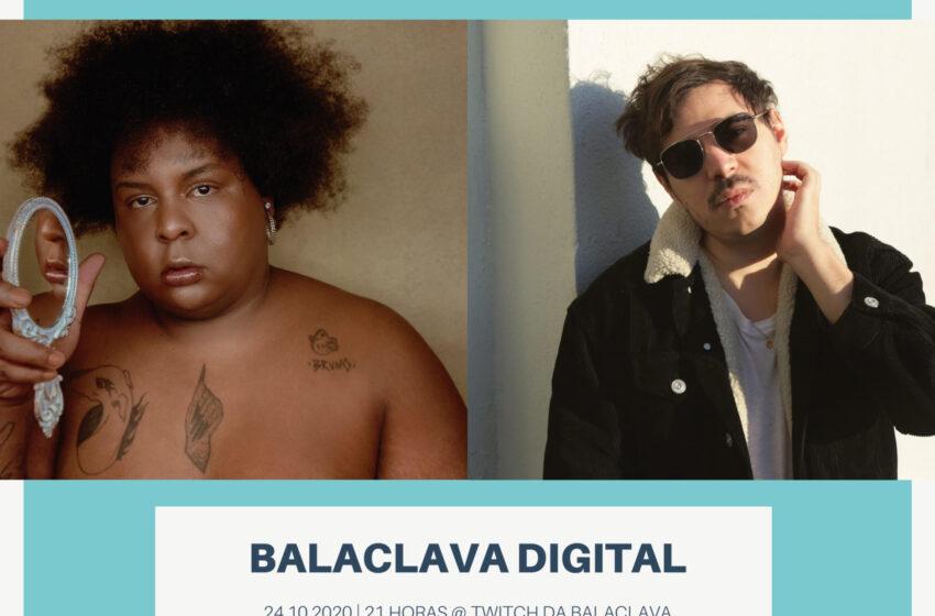 Jup do Bairro entrevista Apeles e vice-versa, lado a lado se apresentam no Balaclava Digital