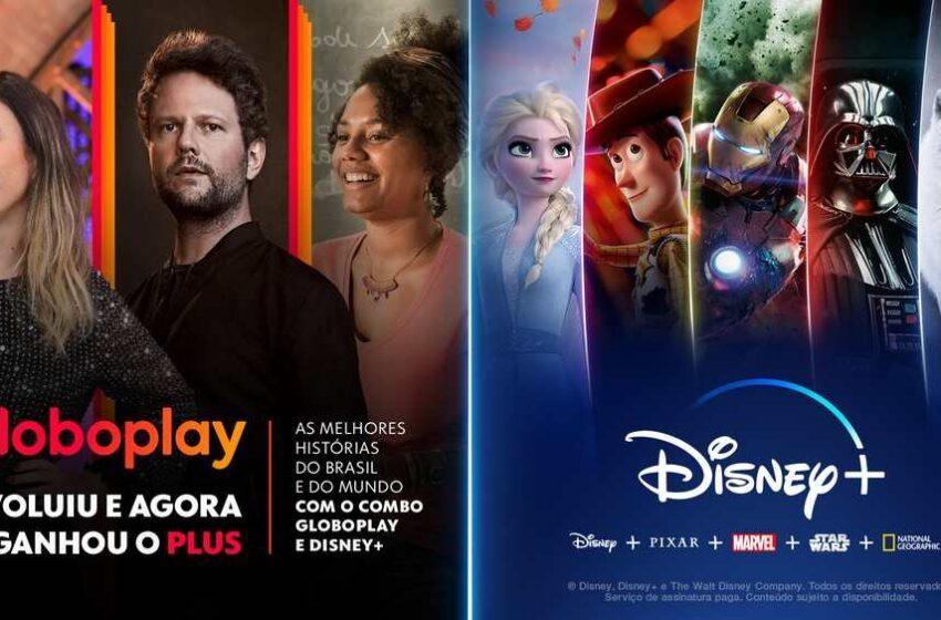 Disney+ e Globoplay poderão ser assinados no mesmo pacote