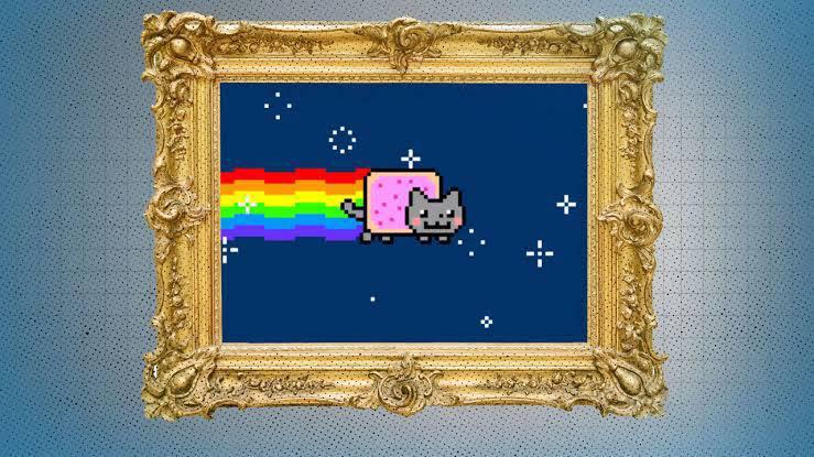NFT Nyon Cat Art