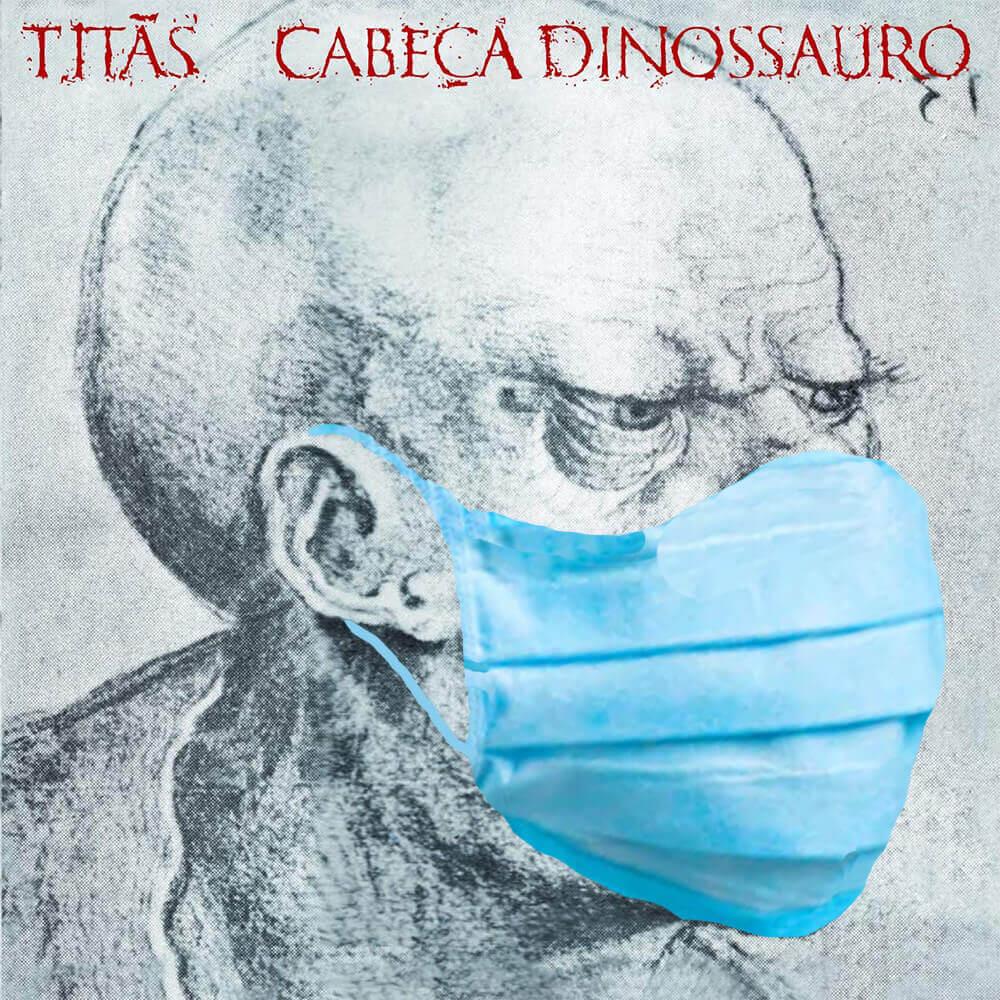 Cabeça Dinossauro Titãs Capa estilizada Máscara Covid-19