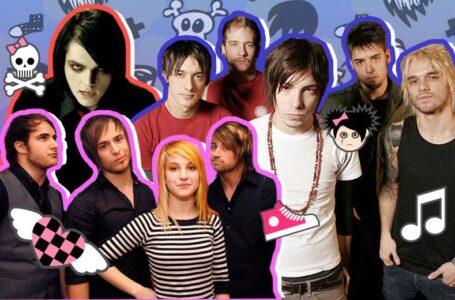 Montagem bandas emo anos 2000 – Crédito: todateen